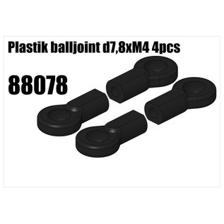 RS5 Modelsport Plastik balljoint d7,8xM4 4pcs