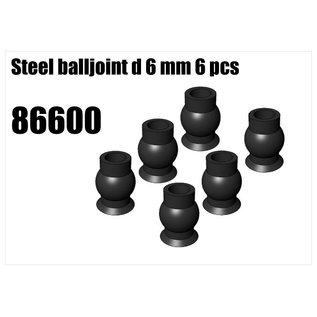 RS5 Modelsport Steel balljoint d 6 mm 6 pcs
