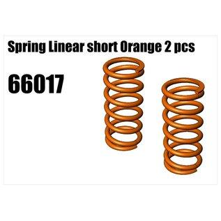 RS5 Modelsport Spring Linear short Orange 2pcs