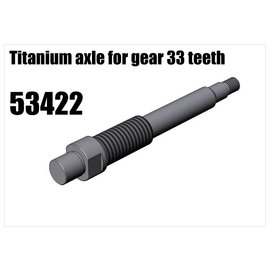 RS5 Modelsport Titanium axle for gear 33 teeth