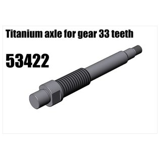 RS5 Modelsport Titanium axle for gear 33 teeth
