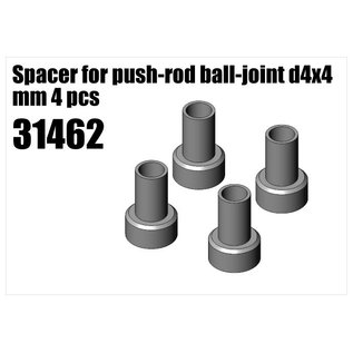 RS5 Modelsport Steel Spacer for push-rod ball-joint d4x4 mm 4pcs