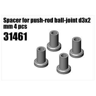 RS5 Modelsport Steel Spacer for push-rod ball-joint d3x2 mm 4pcs