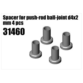 RS5 Modelsport Steel Spacer for push-rod ball-joint d4x2 mm 4pcs