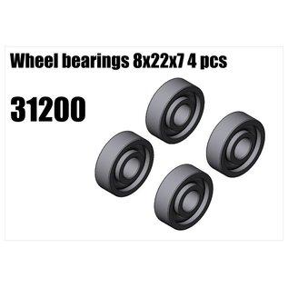 RS5 Modelsport Wheel bearings 8x22x7 4pcs
