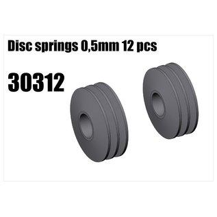 RS5 Modelsport Disc springs 0,5mm 12pcs