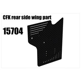 RS5 Modelsport CFK rear side wing part