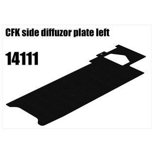 RS5 Modelsport CFK side diffuser plate left