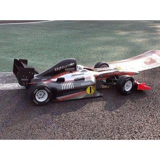 Roadies F1 Rain Tyre Magic (Compound F1) front, verlijmd op witte velgen