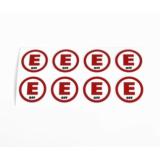 "Robitronic Stickerset met ""E"" stickers"