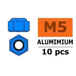 """G-Force Aluminium zelfborgende moer """"blue"""", 10 stuks"""