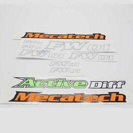 Mecatech Racing Stickerset