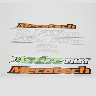 Mecatech Racing Stickerset (6 stuks)