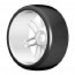 GRP T02 SLICK - S2 XSoft - Montiert auf New Spoked White Wheel - 1 Paar