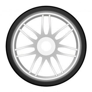 GRP T02 SLICK - S3 Soft - Montiert auf New Spoked White Wheel - 1 Paar