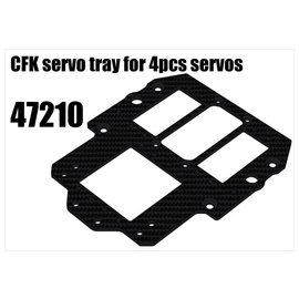 RS5 Modelsport CFK servo tray for 4pcs servos