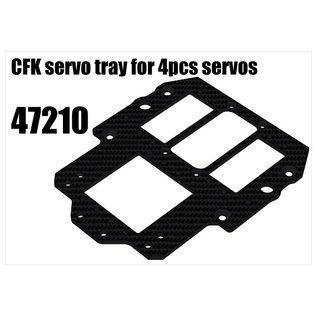 RS5 Modelsport CFK servo tray for 4pcs servos