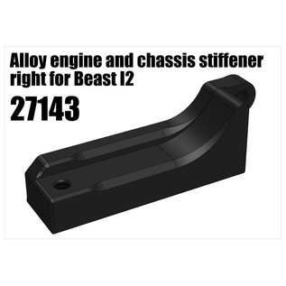 RS5 Modelsport Alloy engine and chassis stiffener right for Beast I2