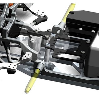 HARM Racing 2019 - Conversion kit servo-saver support rear SX-4 / SX-5