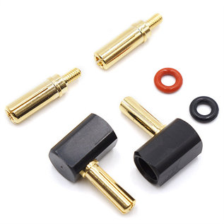 90 ° Accu connector (4 mm en 5 mm)