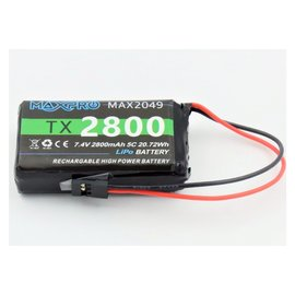 Transmitter battery LiPo 2S 2800mAh with balancer