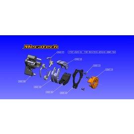 Mecatech Racing ErsatzBeläge für drei Backenkupplung