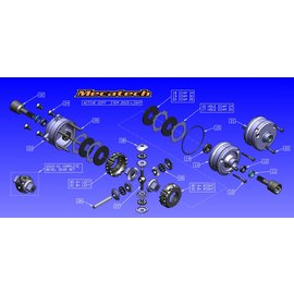 Mecatech Racing Bearing for Active Differential 8x16x5