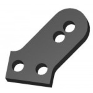 HARM Racing CFK/Carbon shock support rear lower, 2 pcs.