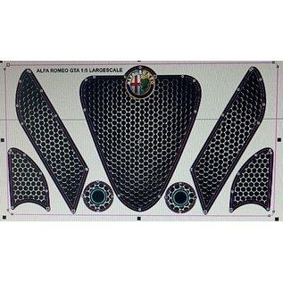 Model Car Studio Alfa 156 decalsheet front bumper