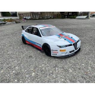Model Car Studio Alfa 156 bodyshell for 500 / 510 mm  (kort chassis)