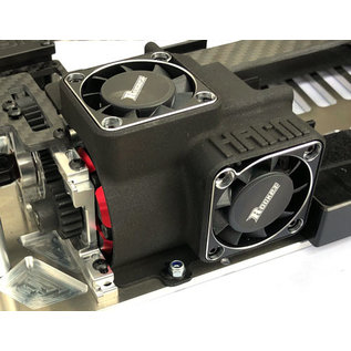 """HARM Racing """"Performance"""" air duct 2 x 40mm, (set without fan)"""