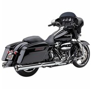 Cobra NH Serie slip-ons Chrome o Negro - Se adapta a:> 2017 Touring