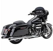 Cobra exhaust Powr-Flo Slip-ons Chrome or Black - Fits:> 2017 Touring FLH/FLT