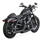 Vance & Hines Twin Slash 3 inch dempers zwart of chroom - Past op:> 14-18 Sportster XL
