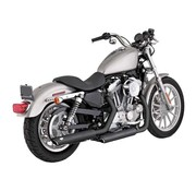 Vance & Hines exhaust Twin Slash 3 inch Mufflers Black or Chrome - Fits:> 04-13 Sportster XL