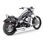 Vance & Hines exhaust Twin Slash 3 inch Mufflers Black or Chrome - Fits: > 08-16 Dyna FXDF FATBOB; 10-16 Dyna FXDWG