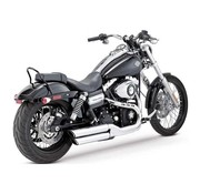Vance & Hines Harley exhaust Twin Slash 3 inch Mufflers Black or Chrome - Fits: > 08-16 Dyna FXDF FATBOB; 10-16 Dyna FXDWG