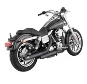 Vance & Hines exhaust Twin Slash 3 inch Mufflers Black or Chrome - Fits: > 91-16 Dyna (Exclude. 10-16 FXDF; 10-16 FXDWG; 12-16 FLD SWITCHBACK)