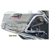 Cycle Visions crash bar - engine guard Bagger tail bag Guard Chrome: Fits:> 08‑17 FLST with Bagger‑Tail