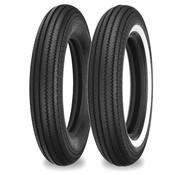 Shinko motorband 4.00 H 19 inch E270 61H Zwart of Enkele witte streep