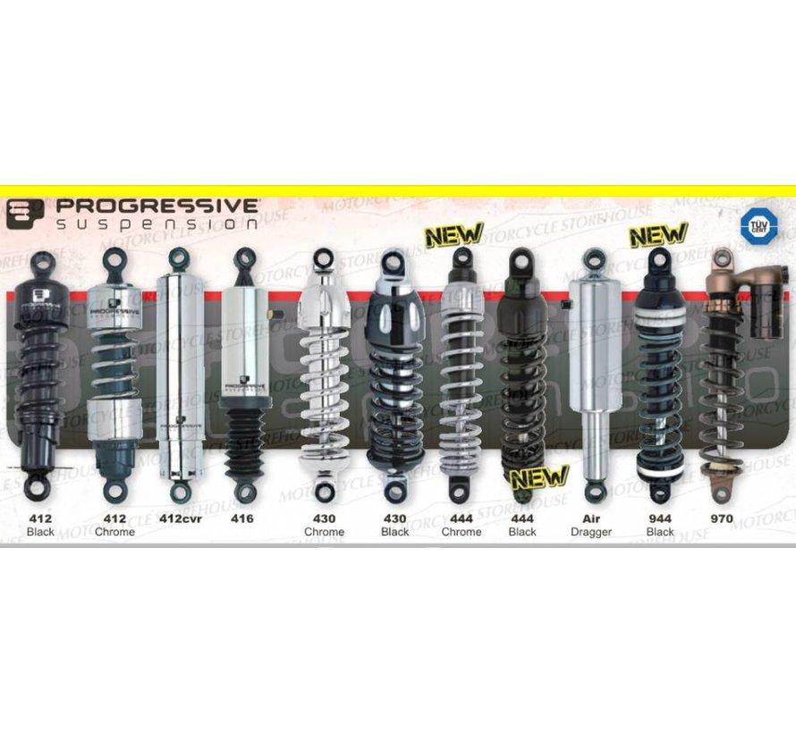 Harley Davidson 412, schwere 12 oder 12,5 INCH- Passend für:> 91-16 DYNA, (schließen 99-03 FXDX, 12-16 FLD)
