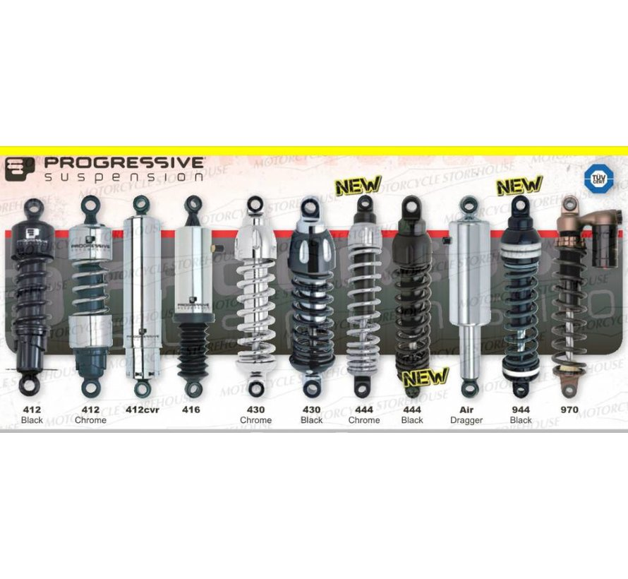 444 Standaard of zwaar 11, 11,5, 12, 12,5, 13 of 13,5 inch - Past op:> 87-94FXLR; 82-94FXR; 83-92FXRT; 91-03XL; 77-78XL; 83-84XR1000