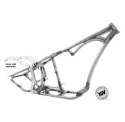 Kraft / Tech Inc frame  Softail style single curved down tube frames - for Evolution engines