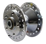 wheel front hub Chrome - Fits:> 84-99 FX XL Dyna