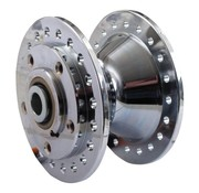 cubo de la rueda delantera de aluminio cromado - Se adapta a:> 78-83 XL, FX, FXR con doble freno del rotor