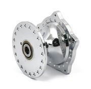 cubo de la rueda delantera de aluminio cromado - Se adapta a:> 74-77 XL ironhead