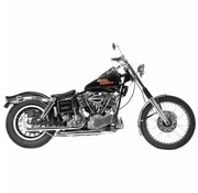 Paughco Chrome drag pipes et headpipes pour swingarm Shovelhead 66-69 (article discontinué Seulement 1 en stock)