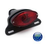 cateye taillight - Convient à: UNIVERSAL - noir