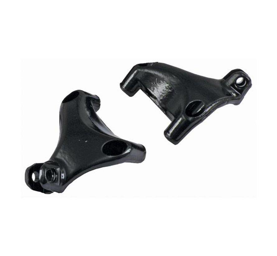 Bedient passagiersvoetsteunbeugelset zwart of chroom: Past op:> 04-13 Sportster XL