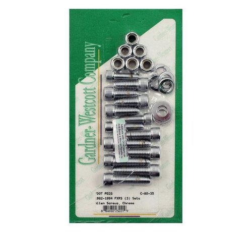 GARDNER-WESTCOTT Bediening Allen bolt footpeg kit Past op> 82-94 FXRS